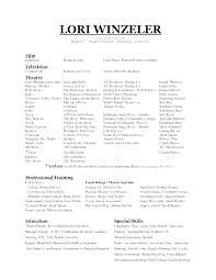 Modern Dance Resume Dance Audition Resume Sample Dance Resume For Audition Template