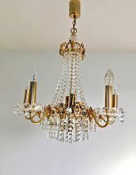 hollywood regency chandelier mid century lobmeyr palwa era