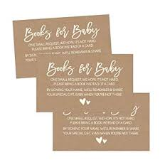 Amazon Com 25 Rustic Books For Baby Request Insert Card For Girl