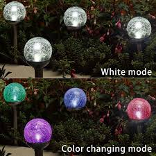 White Solar Lights Outdoor China Crackled Glass Solar Garden Lights Outdoor Lighting