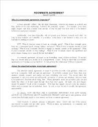 Sample Roommate Contract Libreng Sample Roommate Agreement Form