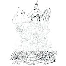 Fairy House Coloring Pages Printable Fairy House Coloring Pages
