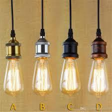 brass chrome silver black rustic e27 aluminum antique retro vintage bulb base lamp bulb holder pendant lighting socket light adaptor