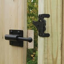 image of heavy duty wood fence latch