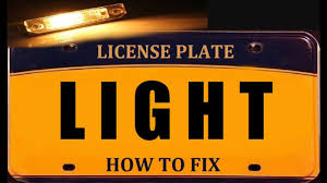 Fix License Plate Light License Plate Light How To Fix And Change Bulb