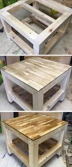 Best 25 Pallet End Tables Ideas On Pinterest  Wood Pallet Tables Pallet Coffee Table Pinterest