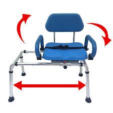 carousel sliding transfer bench swivel seat padded bath shower chair pivot arms