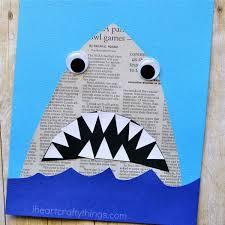 newspaper shark craft i heart crafty things newspaper shark craft 2