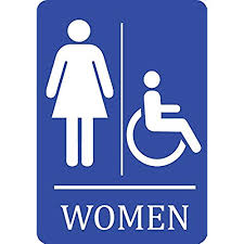 Handicap Bathroom Signs Impressive Women's Bathroom Signs Amazon