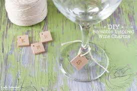 supplies needed to make your own scrabble wine glass charms supply2