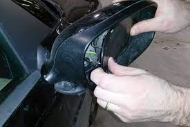 how to replace wing mirror glass