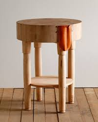 small butcher block table design