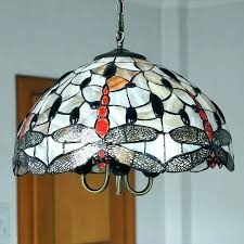 antique stained glass chandelier vintage hanging lamp fruit