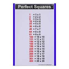 Chart Perfect Simple Perfect Squares Chart