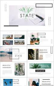 Ppt Style European Minimalist Fashion Magazine Album Ppt Template