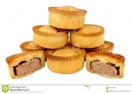 Group Of Fresh Baked Meat Pies Stock Photo Image Of Savoury Pile