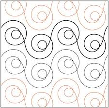 431 best Free Motion Quilting images on Pinterest | Draw, Drawings ... & Circular Quilting Pattern - Simple but effective machine quilting design Adamdwight.com