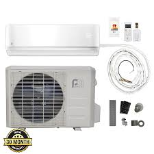 perfect aire 12 000 btu 17 5 seer quick connect ductless mini split heat pump 115v