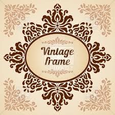 vintage frame design oval. Oval Frame With Vintage Decoration Vector Image \u2013 Artwork Of Borders And Frames © Bariskina Design 4
