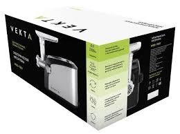 Купить <b>Мясорубка VEKTA MGS</b>-<b>1801</b> стальной/черный по низкой ...