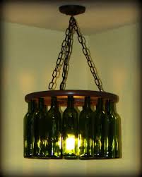 having spotted a wine bottle chandelier that was 400 from a chain caitlin and brandon did what any good diyers would do made one themselves and