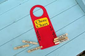 Dollar store kids' craft: Door Hanger Chore Chart