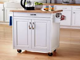 image of small kitchen island cart with wheel
