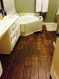porcelain wood look tile using wood plank tiles and what are your thoughts in bathroom