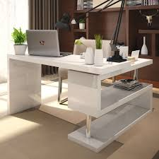 home office computer furniture. Siena White High Gloss Rotating Computer Desk Home Office Furniture S
