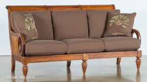 wooden couch with cushions stylish sofa image for unique couches
