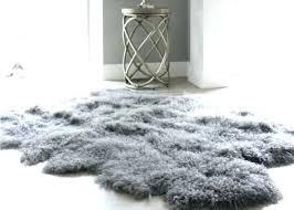 sheepskin rug faux mongolian fur moss