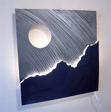 lighted moving wall art