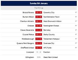 View all the live scores and breaking news from fa cup, as well as the fa cup table, top goalscorers and many more statistics at besoccer.com. Football Games Results Scores Transfers News Sky Sports