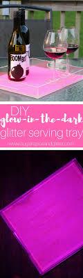 diy glitter furniture. DIY Glitter Glow-in-the-Dark Tray Is The Perfect Entertaining DIY, Diy Furniture