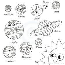20 Colorare I Pianeti Del Sistema Solare Disegni Da Colorare