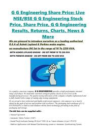 G G Engineering Share Price Live Nsebse G G Engineering