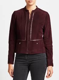 women gerry weber zip thru suede jacket bordeaux 28637401