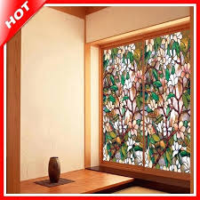 stained glass for windows fashion magnolia stained glass decorative stained glass window privacy