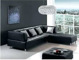 black leather couch living room ideas modern living room with black leather sofa black wall and