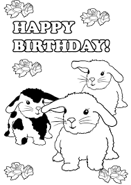 Cute animal themes, birthday hats, balloons, cards, and cakes. Birthday Coloring Pages