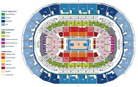 Oklahoma City Thunder Arena Seating Chart Seating Chart Oklahoma City Thunder
