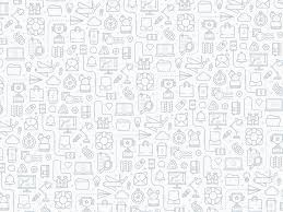 Dribbble Icon Pattern Gray Png By Stephen Andrew Murrill