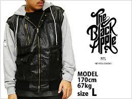 black apple nyc sweat hoo leather jacket black gray black apple new york leather jackets sweatshirts