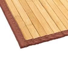 5 size bathroom bamboo floor mat rug natural smooth shower bath non skid
