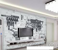 wall murals for office. 3D Abstract World Map Wallpaper Wall Decals Art Print Mural Home Decor Indoor Office Murals For