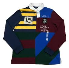 polo ralph lauren rlpc rowing club custom slim fit rugby shirt navy multi small for