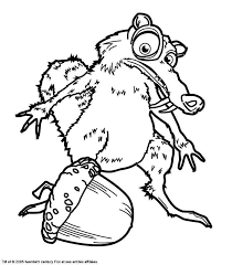 Free printable coloring pages for children that you can print out and color. The Ice Age Free To Color For Children The Ice Age Kids Coloring Pages