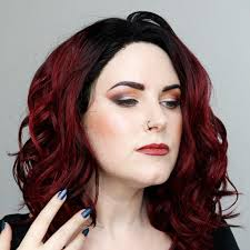 wearing kat von d lipstick sunset makeup with video and tutorial on my and curly red hair