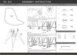 assembly instructions baxton studio nexus gray fabric upholstered dining chairs