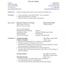 Nice Sample Resume For Nursing Student Images Example Resume